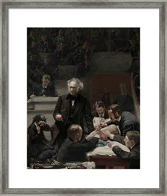 Portrait Of Dr. Samuel D. Gross  Framed Print by Thomas Eakins