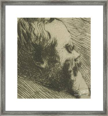 Portrait Of Edgar Degas Framed Print by Giuseppe Nittis