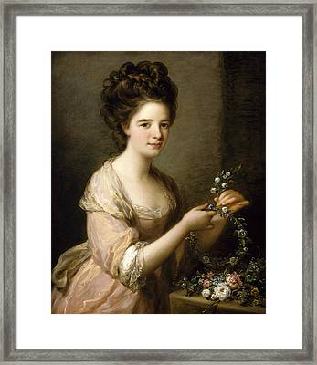 Portrait Of Eleanor, Countess Of Lauderdale Framed Print by Angelica Kauffman
