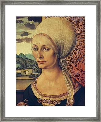 Portrait Of Elisabeth Tucher Framed Print by Albrecht Durer