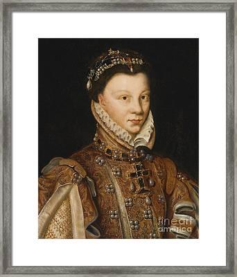 Portrait Of Elizabeth Of Valois Framed Print