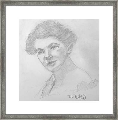 Portrait Of Ella Wheeler Wilcox Framed Print by Tim Botta