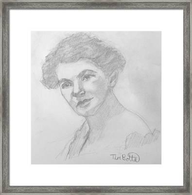 Portrait Of Ella Wheeler Wilcox Framed Print