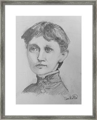 Portrait Of Emma Curtis Hopkins Framed Print by Tim Botta