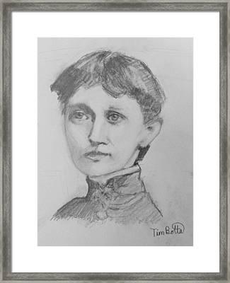 Portrait Of Emma Curtis Hopkins Framed Print