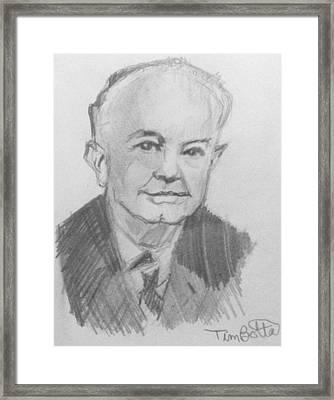 Portrait Of Ernest Holmes Framed Print