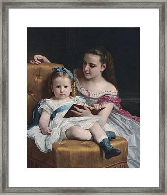 Portrait Of Eva And Frances Johnston Framed Print