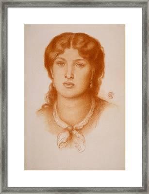 Portrait Of Fanny Cornforth Framed Print by Dante Gabriel Rossetti