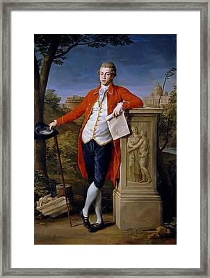 Portrait Of Francis Basset, 1st Baron De Dunstanville And Basset  Framed Print by Pompeo Batoni