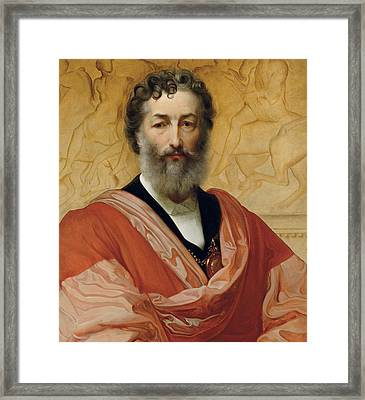 Portrait Of Frederic Leighton Framed Print by Paolo Fossi