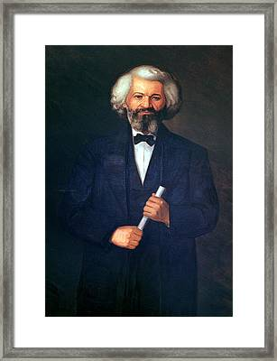Portrait Of Frederick Douglass Framed Print