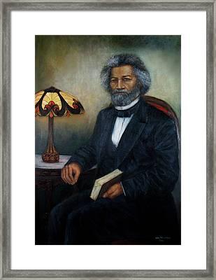 Portrait Of Frederick Douglass Framed Print by Sylvia Castellanos