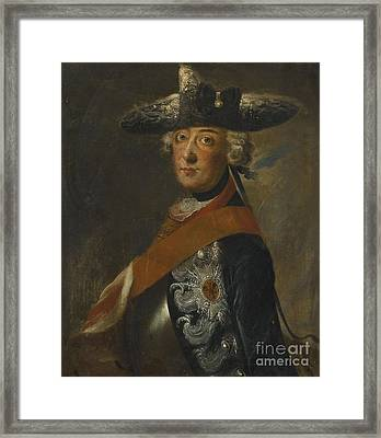 Portrait Of Frederick The Great Of Prussia Framed Print