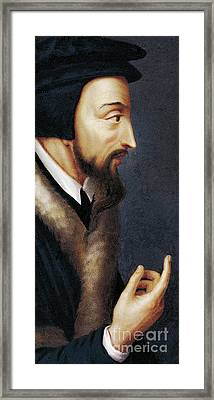 Portrait Of French Theologian And Religious Reformer, John Calvin  Framed Print