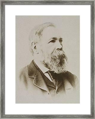 Portrait Of Friedrich Engels Framed Print by Karl Pinkau