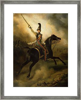 Portrait Of Friedrich Heinrich Framed Print by Emile Jean Horace Vernet