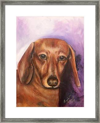 Portrait Of Fritz - Commissions Accepted Framed Print by Renee Dumont  Museum Quality Oil Paintings  Dumont