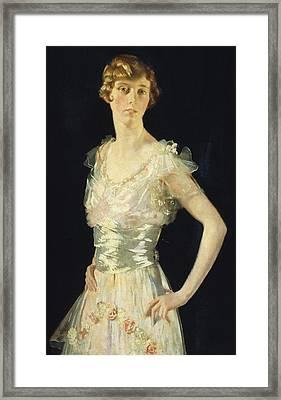 Portrait Of Gardenia Framed Print by Sir William Orpen