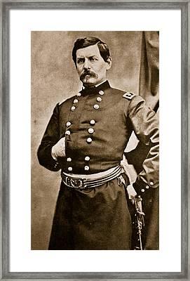 Portrait Of General George B Mcclellan Framed Print by Matthew Brady