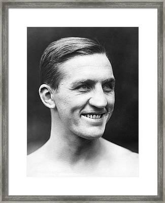 Portrait Of George Carpentier Framed Print