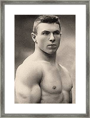 Portrait Of George Hackenschmidt Framed Print by English School