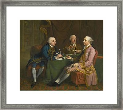 Portrait Of George Montagu Dunk Framed Print by Hugh Douglas