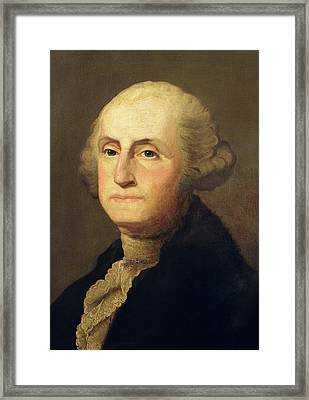Portrait Of George Washington Framed Print by Gilbert Stuart