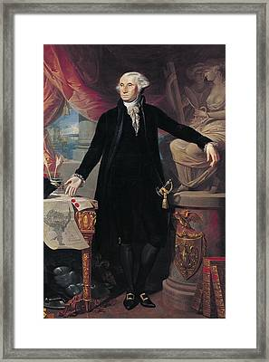 Portrait Of George Washington Framed Print by Joes Perovani