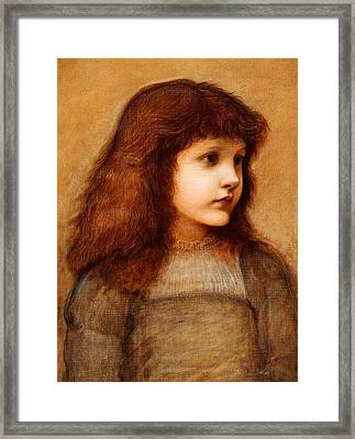 Portrait Of Gertie Lewis Framed Print by Edward Burne-Jones