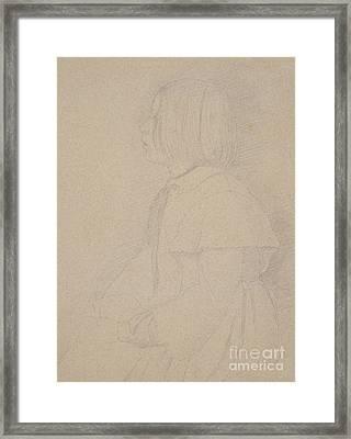 Portrait Of Giulia Bellelli Framed Print by Edgar Degas