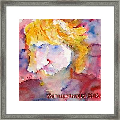 Portrait Of Graham Framed Print