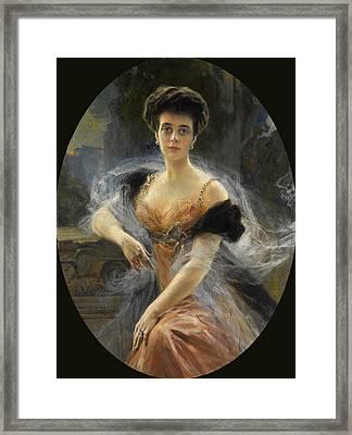 Portrait Of Grand Duchess Elena Vladimirovna Of Russia Framed Print