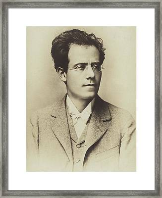 Portrait Of Gustav Mahler Framed Print by Austrian School