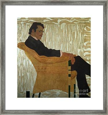 Portrait Of Hans Massmann Framed Print by Egon Schiele