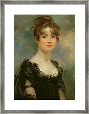 Portrait Of Harriet Leonard Bull  Framed Print