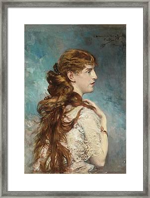 Portrait Of Harriet Valentine Framed Print