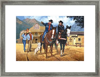 Portrait Of Harry And Pat Bernstein Framed Print by Harold Shull