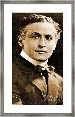 Portrait Of Harry Houdini, 1910 Framed Print