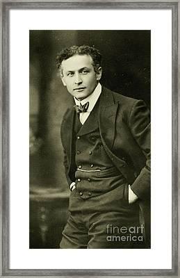 Portrait Of Harry Houdini, 1913 Framed Print