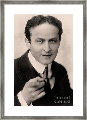 Portrait Of Harry Houdini Framed Print