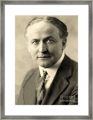 Portrait Of Harry Houdini Circa 1911 Framed Print