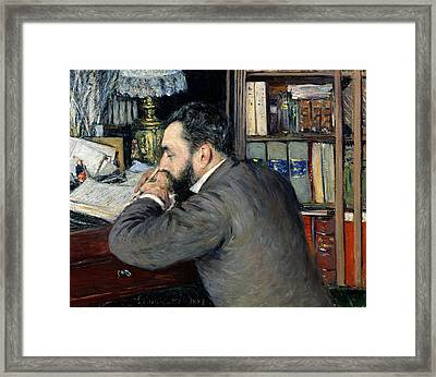 Portrait Of Henri Cordier Framed Print