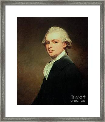 Portrait Of Henry Russell Framed Print by George Romney