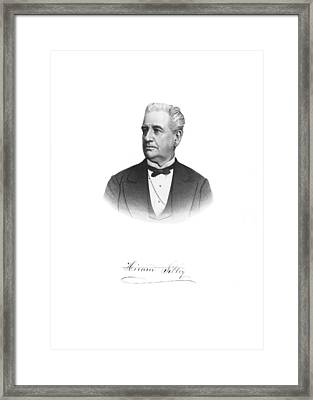 Portrait Of Hiram Sibley Framed Print by Underwood Archives