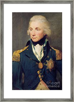 Portrait Of Horatio Nelson Framed Print by Lemuel Francis Abbott