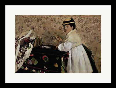 Portrait Of Hortense Valpincon As A Child Framed Prints