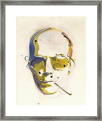 Portrait Of Hunter S. Thompson Framed Print