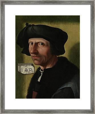 Portrait Of Jacob Cornelisz Van Oostsanen Framed Print
