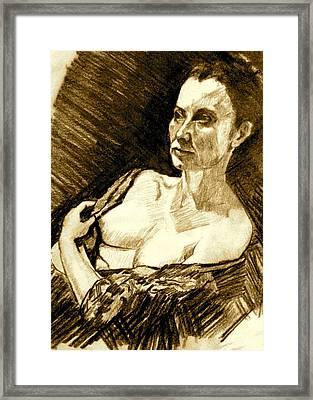 Portrait Of Jacqueline Framed Print by Dan Earle