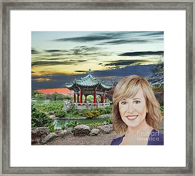 Portrait Of Jamie Colby By The Pagoda In Golden Gate Park Framed Print by Jim Fitzpatrick